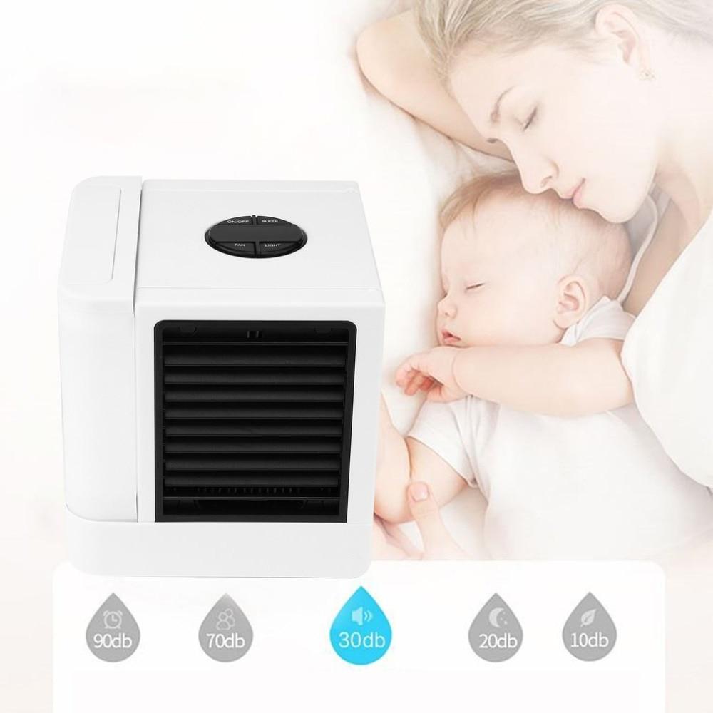 2018 USB Mini climatiseur humidificateur purificateur 3 Modes 7 couleurs lumière bureau ventilateur de refroidissement pour bureau maison extérieur voyage
