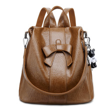All-match Anti-Theft Backpack Female New Style for Autumn and Winter Korean Fashion Multi-Purpose Cute Bow Backpack Travel Bag tide fashion female korean backpack all match shoulders
