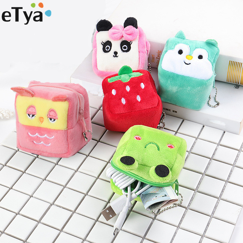 Mini Coin Purse Bag Cute Plush Cute Small Coin Wallet Women Coin Money Earphone Holder Wallet Pouch Pocket Kids Handbag Gift