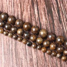 Hot Sale Natural Stone Bronze Ash Beads 15.5 Pick Size: 4 6 8 10 mm fit Diy Charms Beads Jewelry Making Accessories