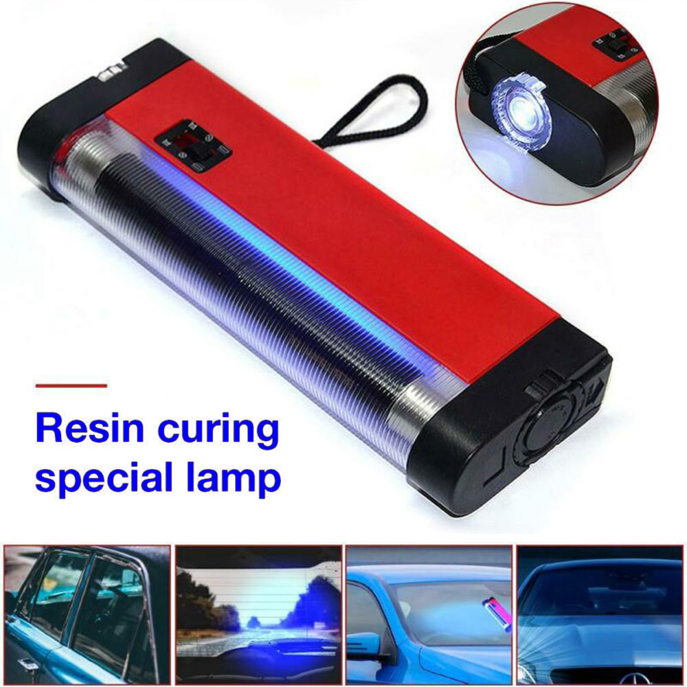 UV Lamp Curing Resin Glue Special Tool Car Windshield Glass Crack Repair Tool White Light *Easy To Operate A N D U