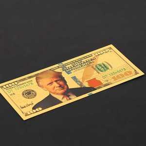 Donald Trump-billet en aluminium or coloré | $100, 10 pièces