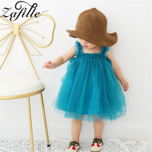 baby girl dress newborn infant toddler clothes cotton sleeveless bow birthday party princess dress baby girl clothes ZAFILLE Baby Dress Sleeveless Girls Clothes Summer Princess Dress Cute Newborn Infant Birthday Party Dress Solid Toddler Dress