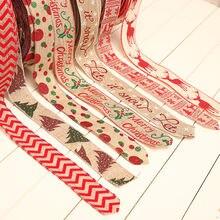 1 шт 2 м 5 см Рождественское украшение лента сделай сам ручная