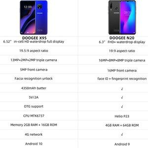 "Image 5 - DOOGEE X95 נייד טלפון 6.52 ""תצוגת אנדרואיד 10 4G LTE 13MP לשלושה מצלמה 2GB RAM 16GB ROM MTK6737 4350mAh נייד"