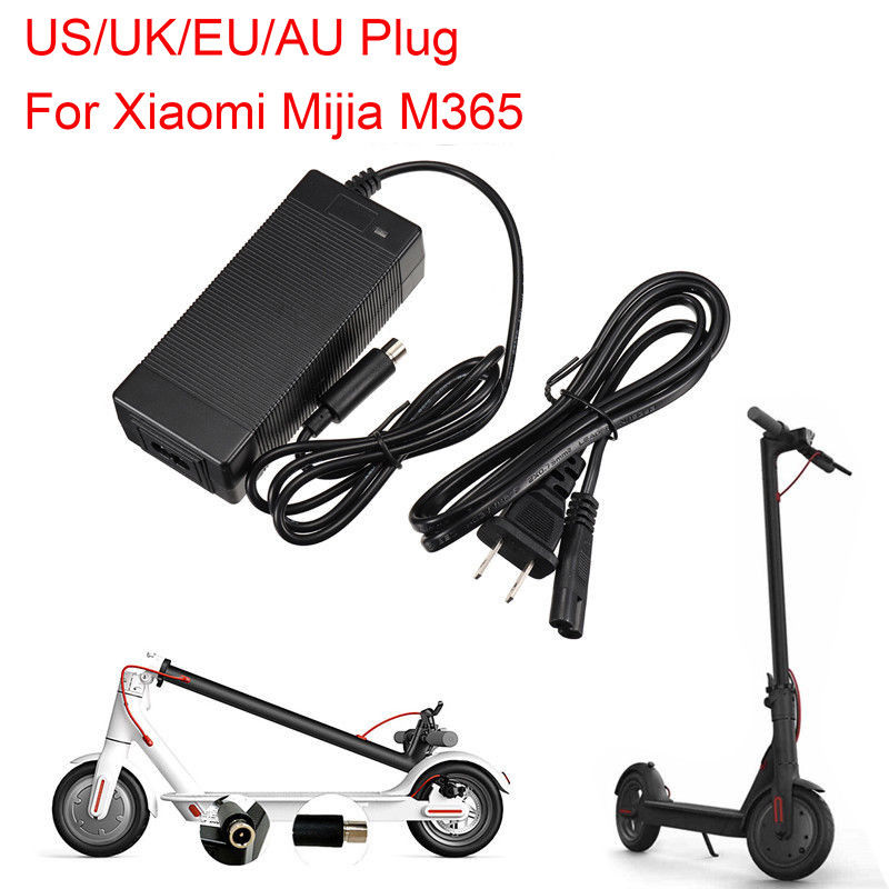 Для Xiaomi Mijia M365 электрический скутер скейтборд 42V 2A зарядное устройство для скутеров зарядное устройство питание адаптеры ЕС/Австралия/Великобритания вилка|Детали и аксессуары для скутера|   | АлиЭкспресс