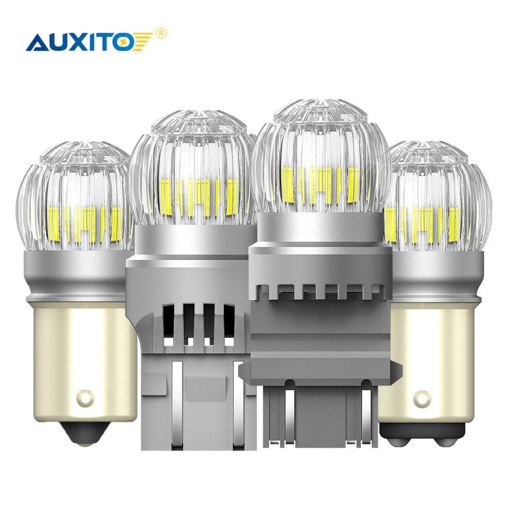 AUXITO 2X BA15S 1156 T20 7443 W21/5 W P21/5 W BAY15D 1157 3157 P27/7W T15 W16W светодиодный фонарь заднего тормоза светодиодный сигнальный фонарь