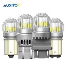 AUXITO-Lámpara LED de señal de giro para coche, bombilla LED T20 1156 BAY15D BA15S P21/5 W 7443 SRCK W21W, 2X P21W, 7443 T15 W16W