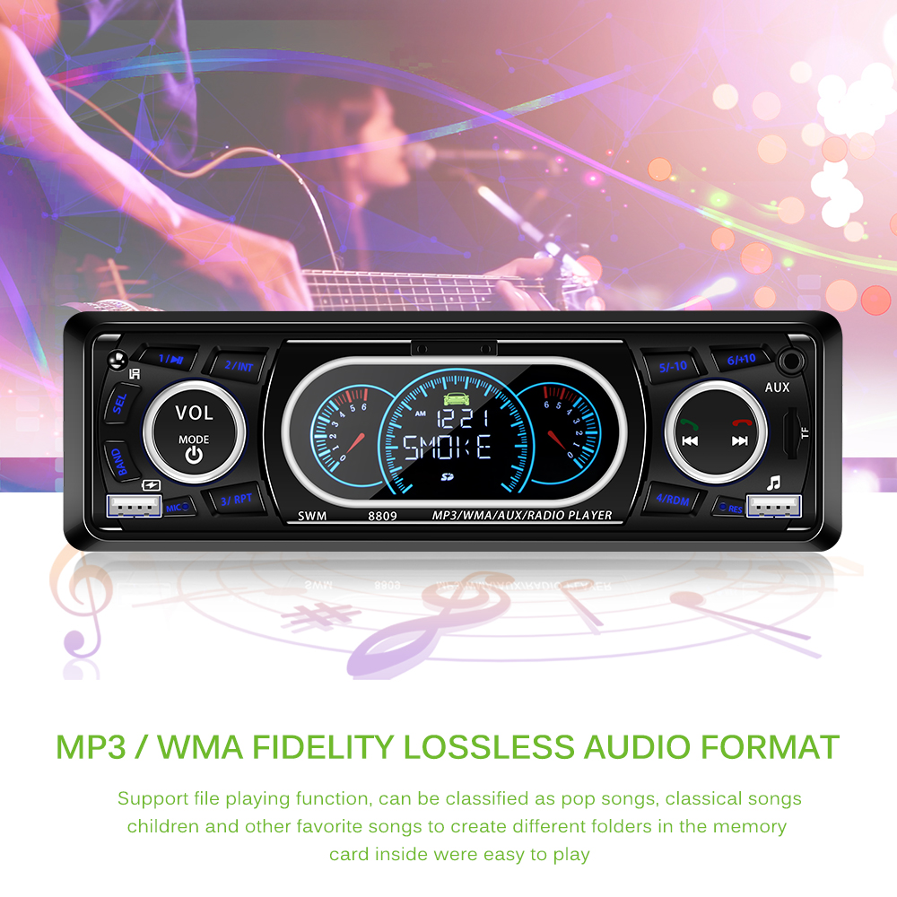 Multifunction MP3 Player For Phone Hands-Free Calling high-capacity Fm Card Machine Dual Car Accessory Usb Port Bluetooth Kit image