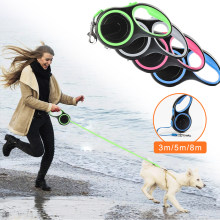 3/5/8 Meter Auto Retractable Dog Leash Portable Pet Puppy Traction Rope Walking Lead Leash(China)