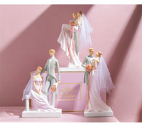 aniversary wedding gifts wedding cake topper bride and groom cake topper figurines wedding decoration cake decorating engagement
