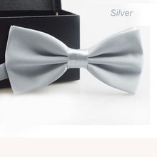 Classic Fashion Novelty Mens Adjustable Tuxedo Wedding Bow Tie Necktie Silver Satin gift Plaids Multicolor Adjust Neck Bow tie(China)