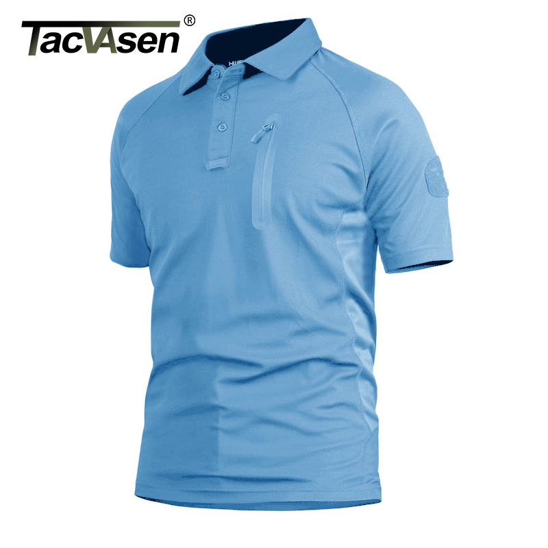 TACVASEN Summer Men's Performance T-shirts Short Sleeve Tactical Military T-shirts Quick Dry Lightweight Fish Hike Top Tees