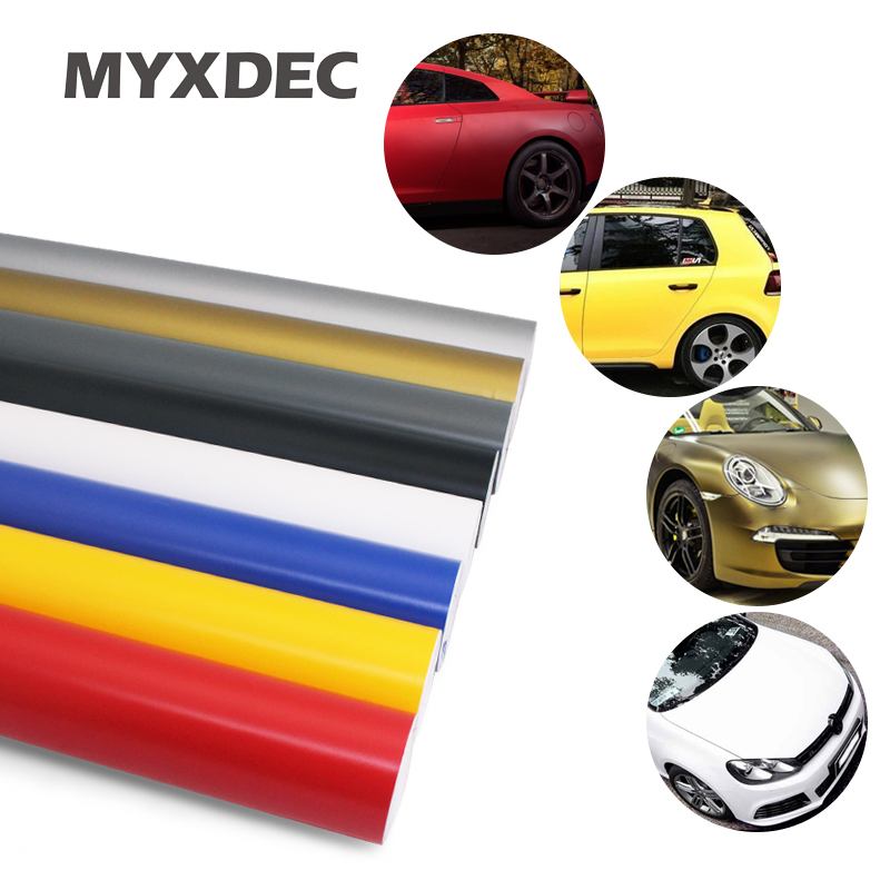 Premium Matte Vinyl Film Sticker Foil Bubble Free Car Wrapping Wraps Motorcycle Automobiles Car Stickers Decals Car Styling