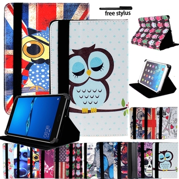 Universal Tablet Case for 7/8/10 Huawei MediaPad T1/T2/T3/T5 Smart Pu Leather Shockproof Tablet Cover Stand Case Folding чехол книжка redline huawei mediapad t2 7 black