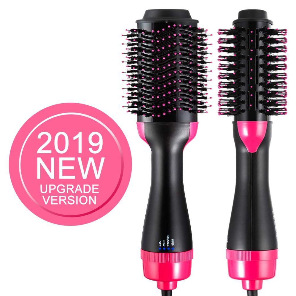 Hair Dryer Brush 3 In 1 Ionic Brush Hot Blow Hair Dryer Volumizer Rotating Curling Irons Heating Hair Straightener Comb