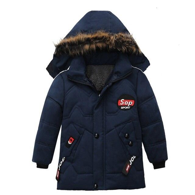 Boy Down Jacket 2020 Winter Warm Baby Boys Star Hooded  Wear Down Jacket 5