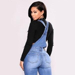 Image 3 - FLEUR WOOD Jeans Bib Female Slimming Denim Jeans For Women Plus Size Stretch Jeans Female Skinny Jeans pantalones vaqueros mujer