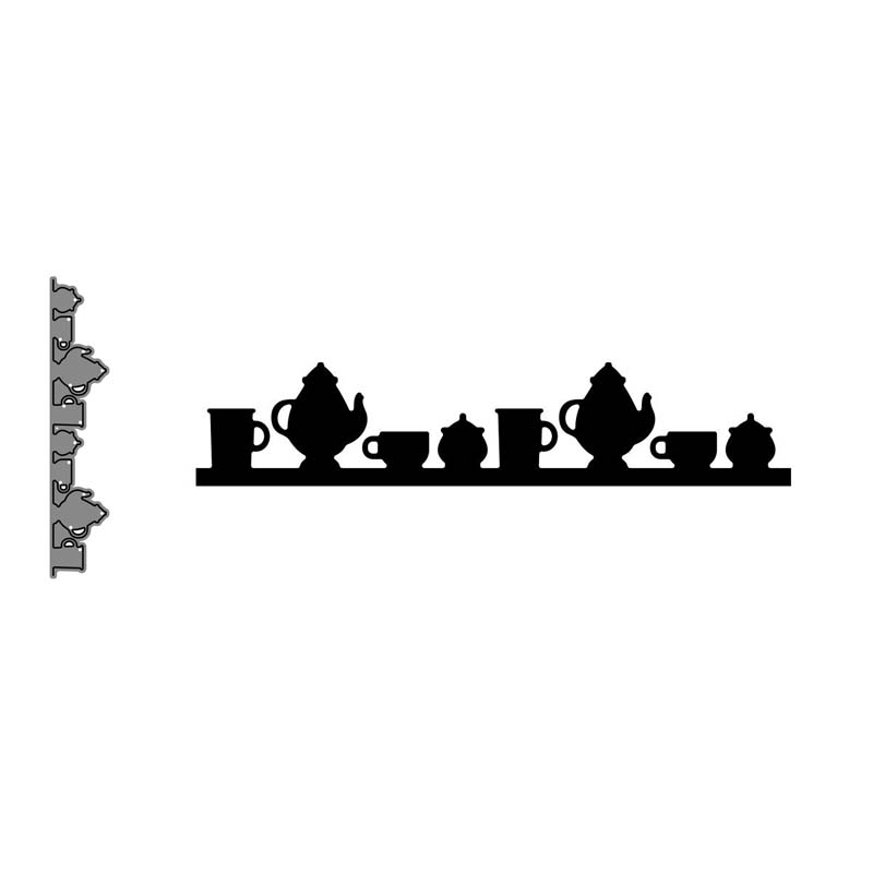 Metal Cutting Dies Various Teacups Cut Die Mold Decoration Scrapbook Paper Craft Knife Mould Blade Punch Stencils