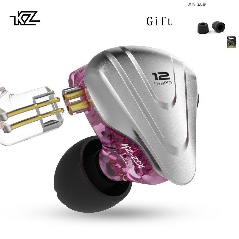 Kz Zsx Terminator 5BA 1DD 12 Unidad Hibrida En-Oido Auriculares De Alta Fidelidad De Auriculares De Musica De deporte Kz Zsn Pro