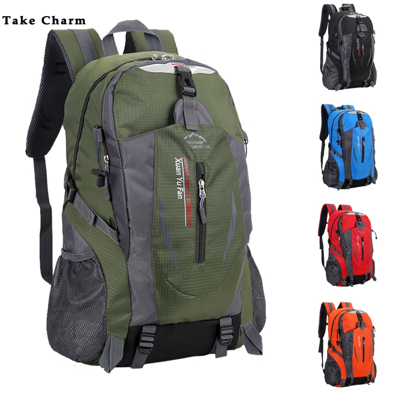 Image 1 - New Men Nylon Travel Backpack Large Capacity Camping Casual 