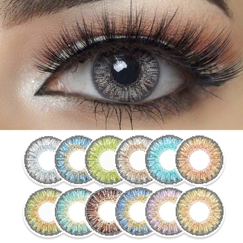Kolorowe soczewki kontaktowe 2 sztuk/para 3 Tone