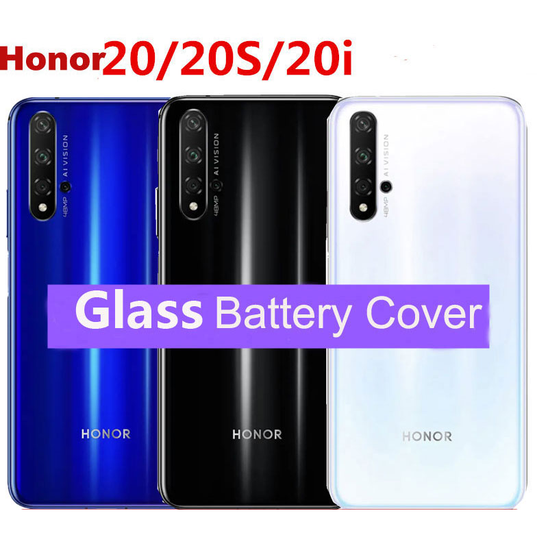 Glass Back Cover For Huawei Honor 20 Back Battery Cover Rear Glass Housing Case For Honor 20 Pro Repair Parts