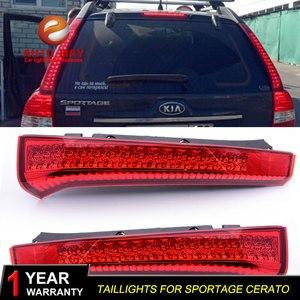 Image 5 - רכב סטיילינג זנב אורות LED בלם אורות אזהרת אורות מקרה עבור KIA Sportage cerato sportageR Ceed 2007 2014 פנסים אחוריים