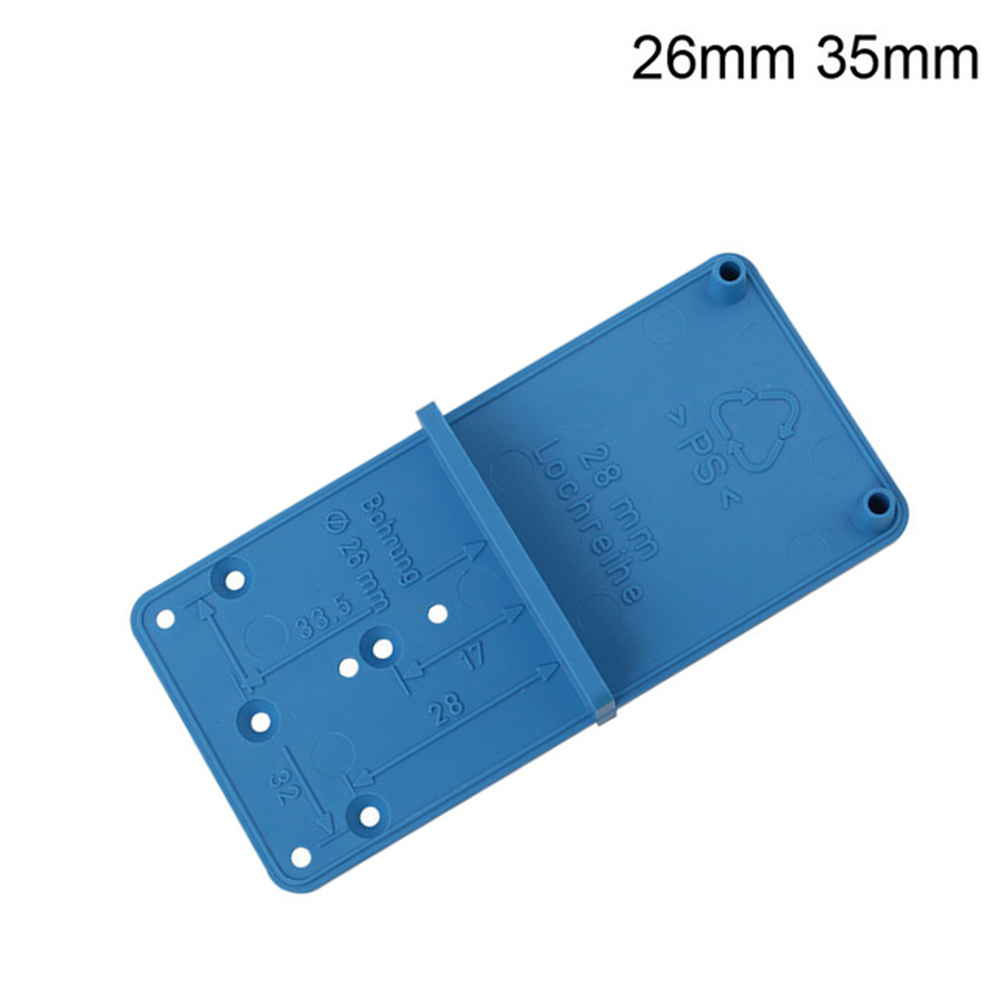Drilling Positioning Template Woodworking Tool Hinge Hole Drilling Guide Locator Plastic Strict Calibration Multi Tools DIY