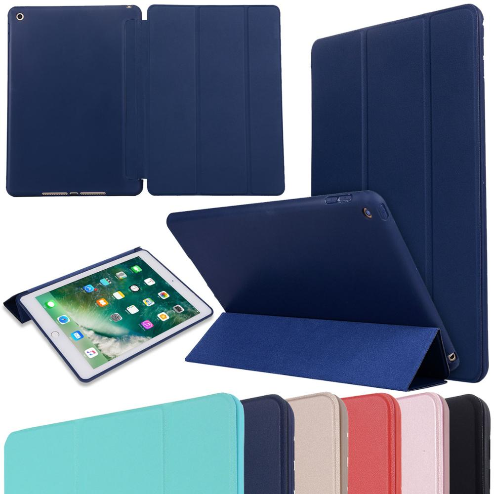 Case for iPad 9.7 2017 2018 Air 1 2 Ultra thin Magnetic Cover Smart PU Leather Funda Cover Auto Sleep Wake 6th Generation Case