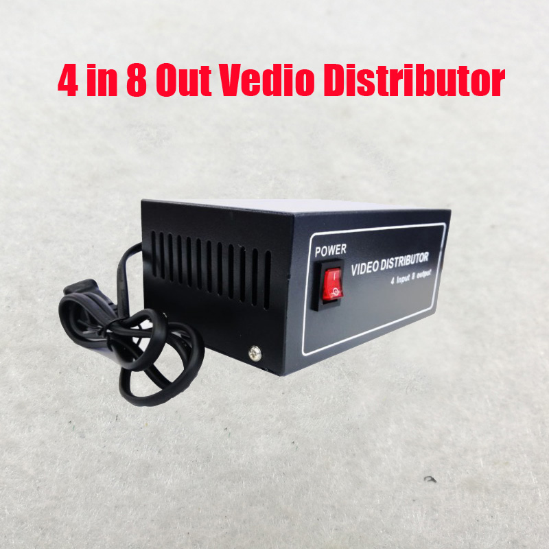 Free Shipping 4 In 8 Out Composite BNC Video Distributor For CCTV Security Camera DVR System image