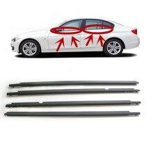 цена на For Toyota Corolla 2009 2010 2011 2012 Door Outside Window Weatherstrip Belt Seal Belt Weather Strip 7574002190 7572012780 4PCS