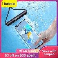 Baseus-funda de teléfono a prueba de agua para móvil, funda de protección Universal para iPhone 12 11 Pro Max, Samsung, Xiaomi, Swim