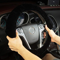 Чехол на руль AUTOYOUTH из искусственного плюша, Классическая Черная мягкая защита для руля, 38 см/15 дюймов, ручная работа