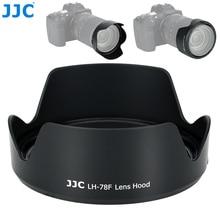 Jjc 카메라 렌즈 후드 canon rf 24 240mm f/4 6.3 is usm 렌즈 용 가역 꽃 그늘은 canon EW 78F 72mm 렌즈 후드를 대체합니다.