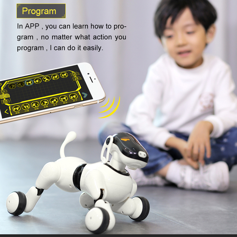 AI Robot Dog Voice &App Controlled Robot AI Dog Interactive Toys Dances Sings Plays Music Touch Motion Control Toys For Children