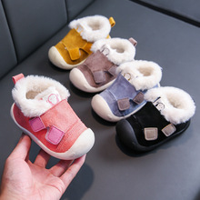 2019 Winter Infant Toddler Boots Thickening Plush Baby Girl Boy Snow Boots Outdoor Soft Bottom Non-Slip Child Kids Boots Shoes