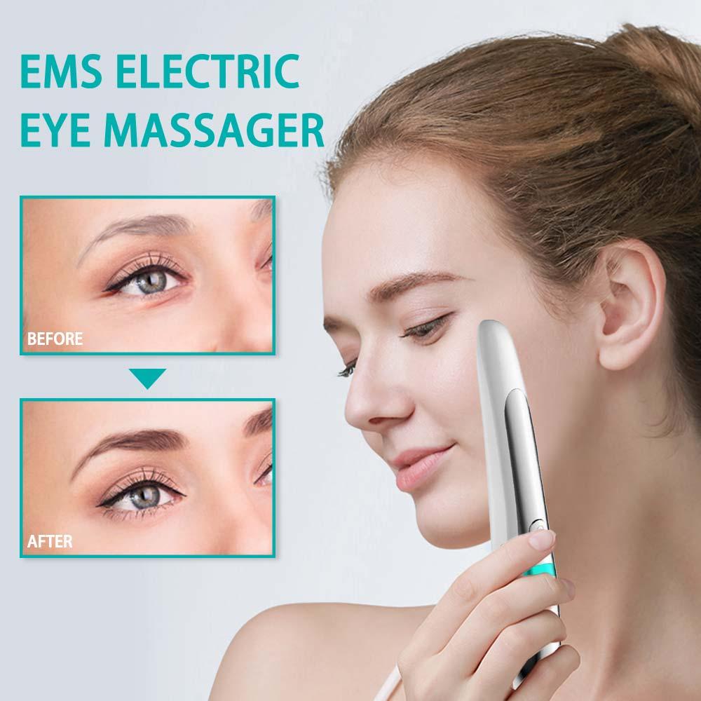 Electric Facial Eye Massager Pen Vibration EMS Rejuvenation Eye Machine Lifting Anti-wrinkle Portable Beauty Device Hot Compress