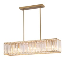 Modern Crystal Led Bulb Pendant Lights Restaurant Light Parlor Hanging Lamp Pipe Suspension Cuboid Pendant Lamp Hotel Hall Lamp fumat stained glass pendant lamp antique style baroque glass body flower shade restaurant suspension lampe hotel project lights