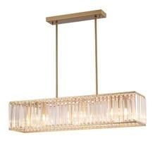 цена Modern Crystal Led Bulb Pendant Lights Restaurant Light Parlor Hanging Lamp Pipe Suspension Cuboid Pendant Lamp Hotel Hall Lamp онлайн в 2017 году