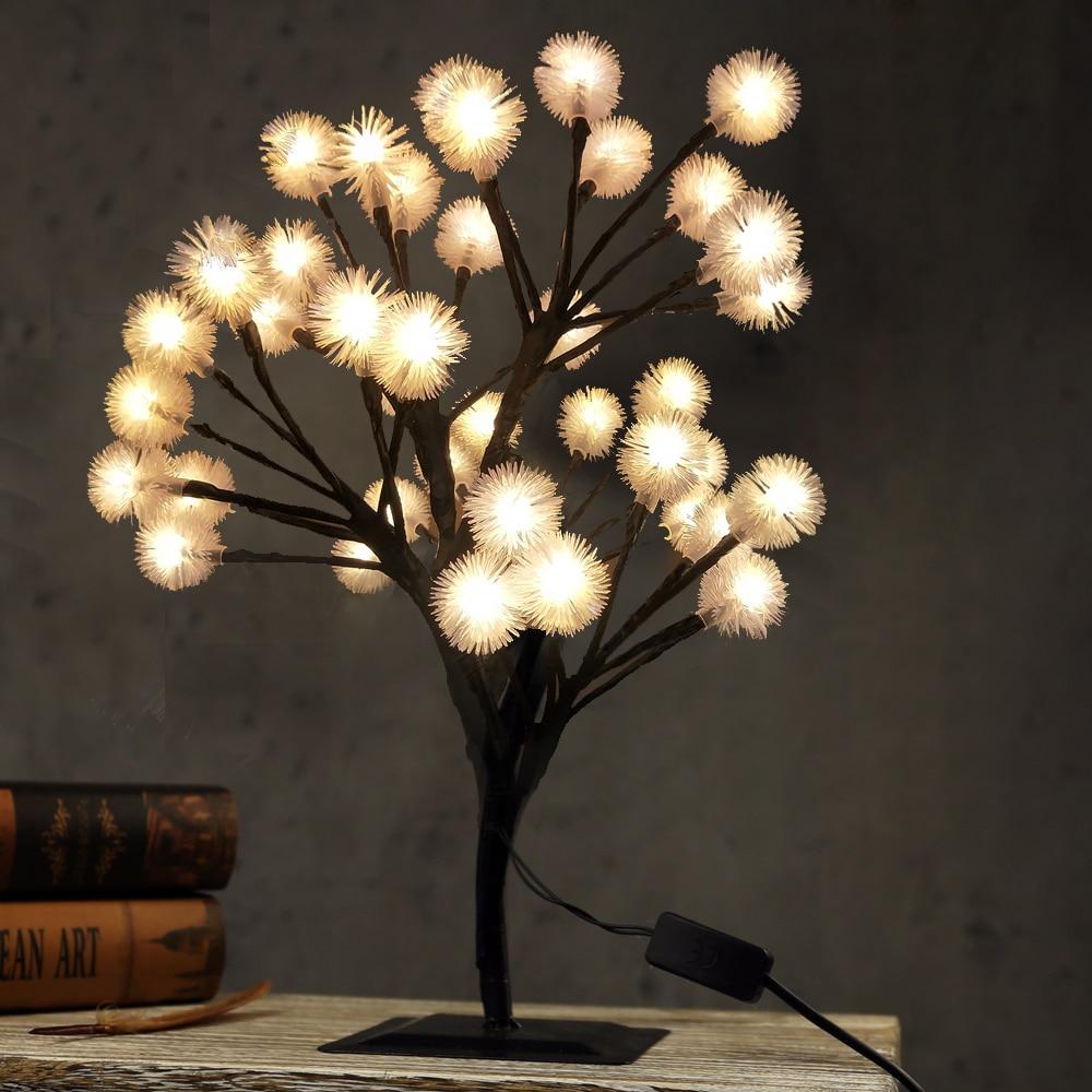 Novelty Luminarias Honey Bee LED Cherry Blossom Tree Night Lights Fairy Holiday Lighting Festival Party Wedding Indoor Home