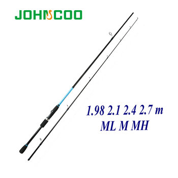 цена на 1.98m 2.1m 2.7m Spinning rod ML M MH power Fishing rod Fast action Lure rod Fishing Cane 5-60g Carbon Fishing rod for Pike
