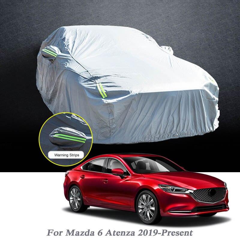Voiture style bâche de voiture étanche Auto soleil preuve ombre bande réfléchissante extérieur poussière pluie protéger pour Mazda 6 Atenza 2019-présent