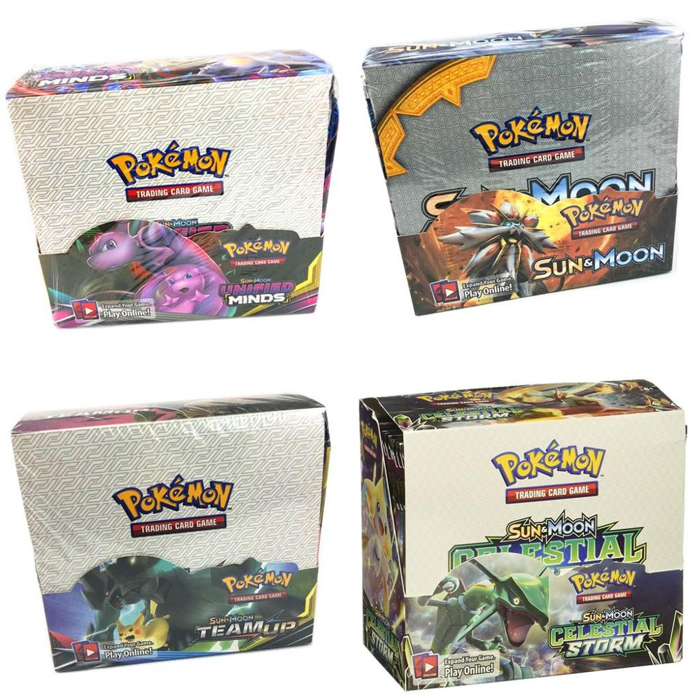 324Pcs Pokemones TCG: Sun & Moon, Unbroken Bonds, Ultra Prism, Unified Minds  Booster Box Trading Card Game