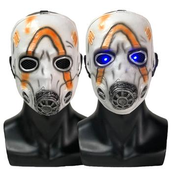 LED Borderlands 3 Psycho maska Cosplay Krieg maski lateksowe impreza z okazji halloween rekwizyty tanie i dobre opinie Unisex Dla dorosłych latex Kostiumy