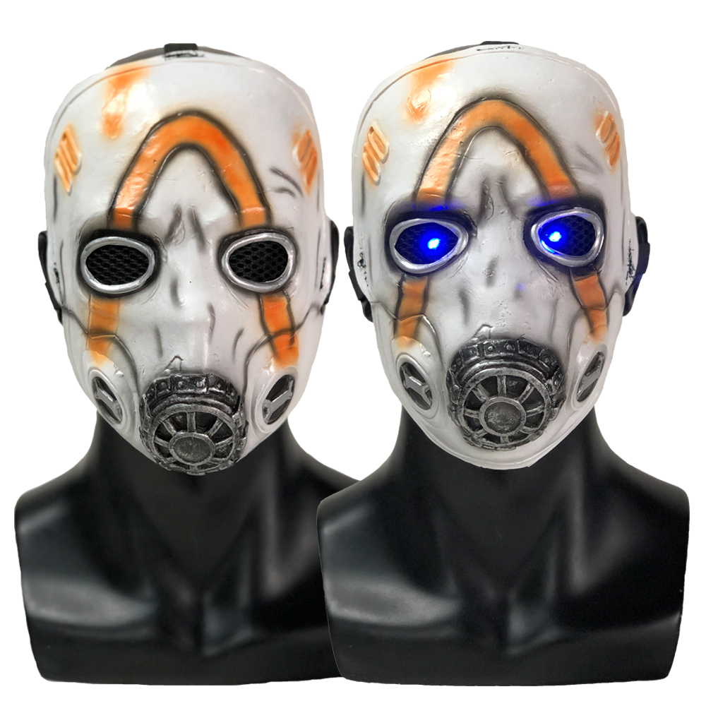 LED <font><b>Borderlands</b></font> 3 Psycho Mask Cosplay Krieg Latex Masks Halloween Party Props image