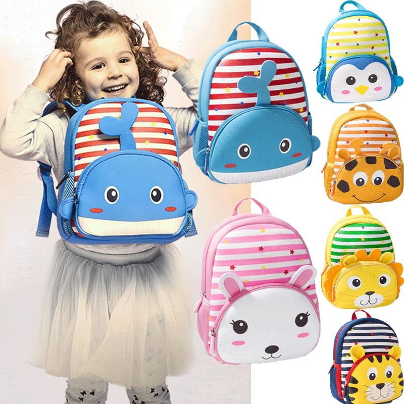 Newest Hot Kids Toddler Baby Boys Girls Cute Backpack Kindergarten Schoolbag Baby Cartoon Animal Bag Shoulder Bag Rucksack