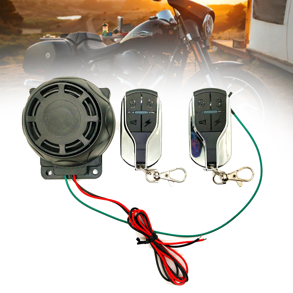 Motorcycle Bike Alarm System Anti Theft Easy Install Detector Engine Start Immobiliser Remote Control Sensitive Loudly Sensor