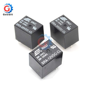 5V 12V 24V 20A DC Power Relay SRA-05VDC-CL SRA-12VDC-CL SRA-24VDC-CL 5Pin PCB Type In stock Black Automobile relay(China)