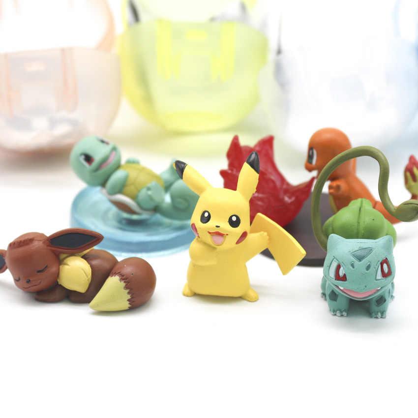 Takara Tomy Pokemon Pocket Monsters Boneca Mini Brinquedos Figura de Ação para Crianças Presentes 5 pçs/set